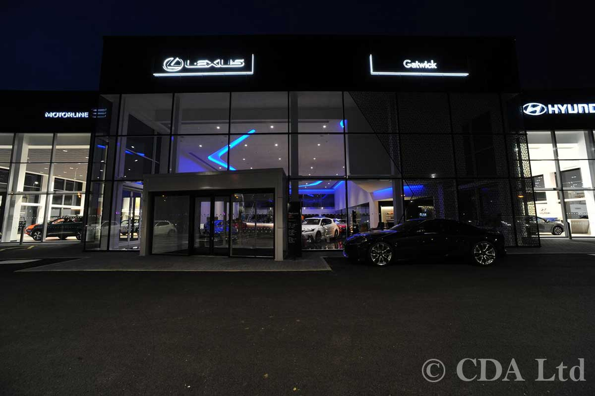 Lexus Showroom Glazing