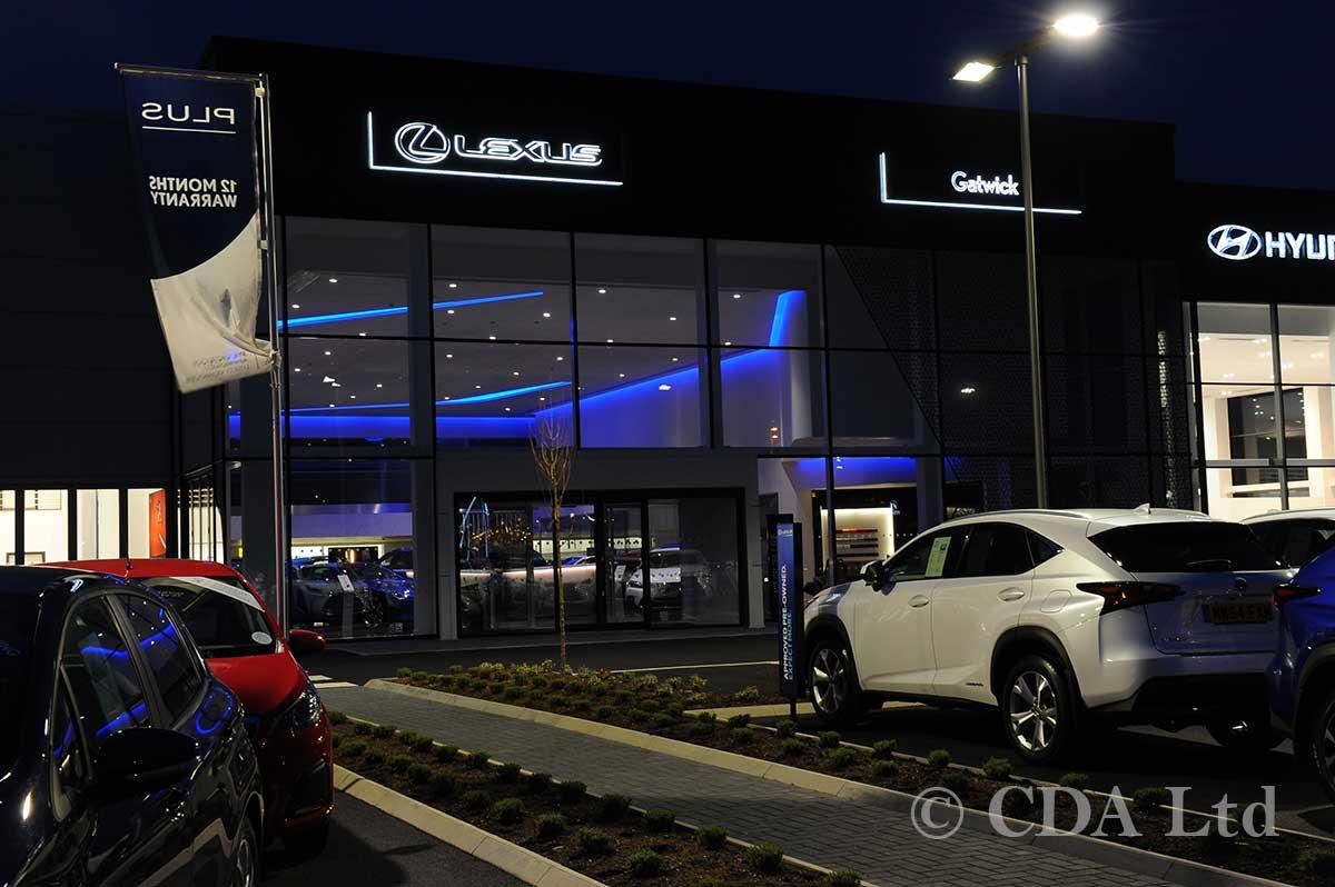 Lexus Car Showroom Aluminium Glazing
