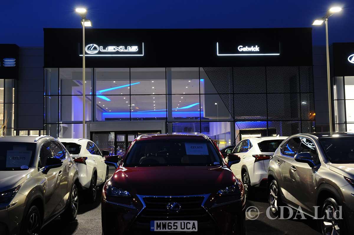 Lexus Showroom Builders Crawley