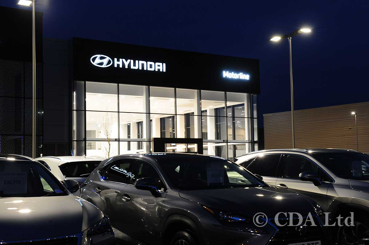 Glazed Walling on Hyundai Showroom