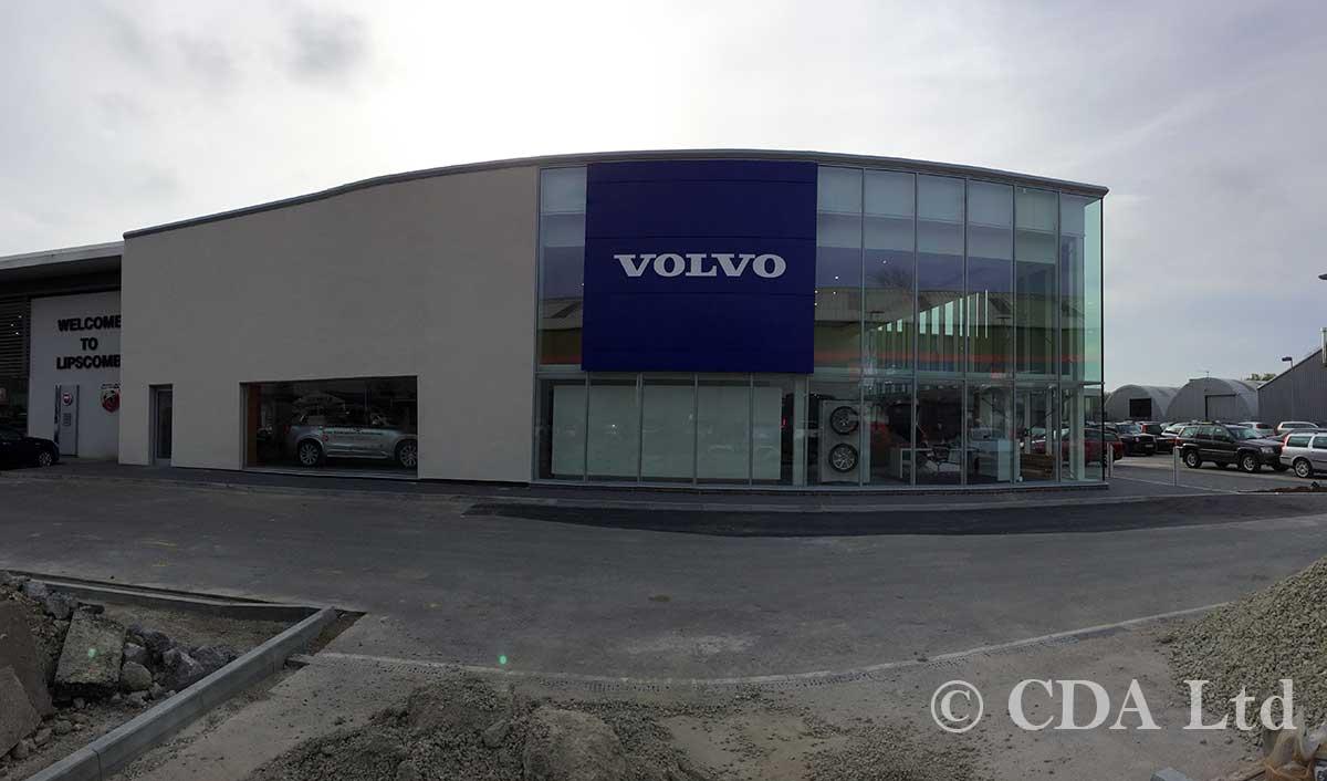 volvo car showroom complete, Lipscombe