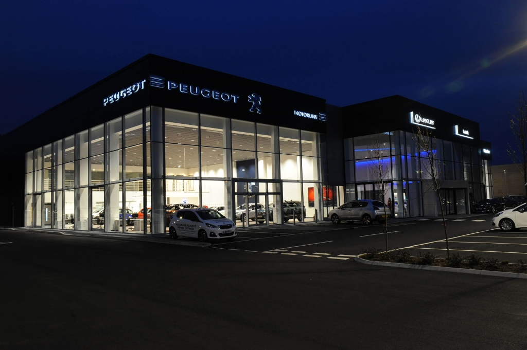 Curtain Walling for Car Showrooms, Hampshire