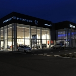Peugeot Car Showroom Installation Crawley - Aluminium Glazing