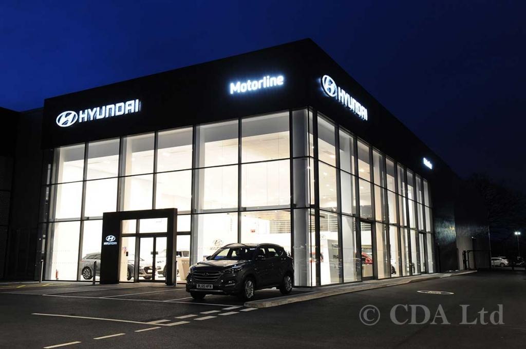 Hyundai Car Showroom Curtain Walling, Crawley