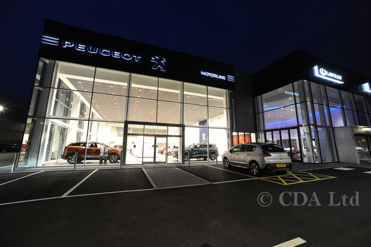 Car Showrooms Builders Glazed Curtain Wall Amp Doors Aluminium Constructions