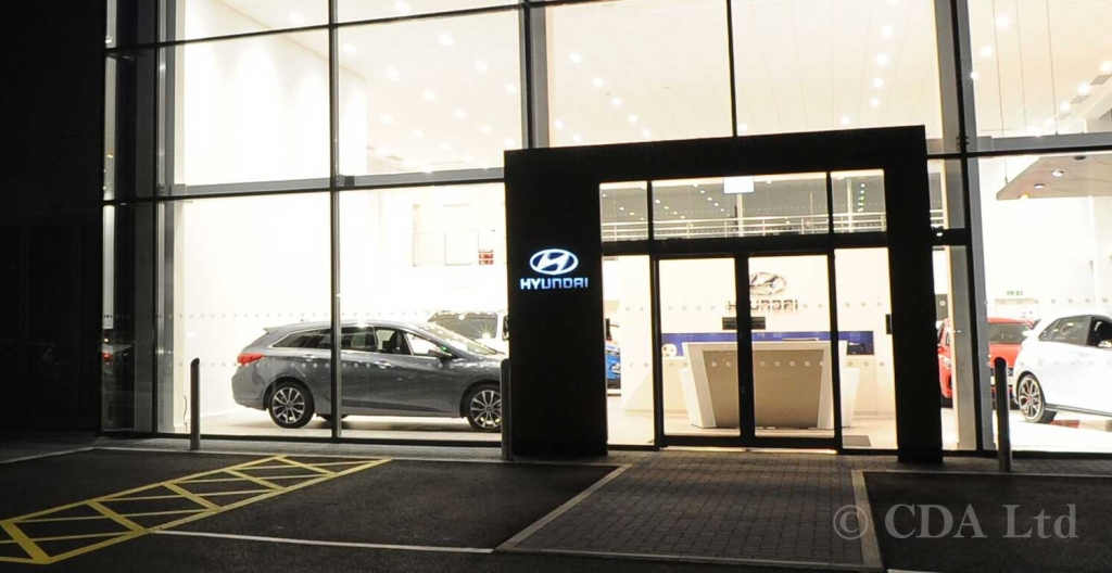 Automatic Sliding Doors for Car Showrooms