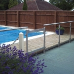 Aluminium Glazed Glass Balustrade