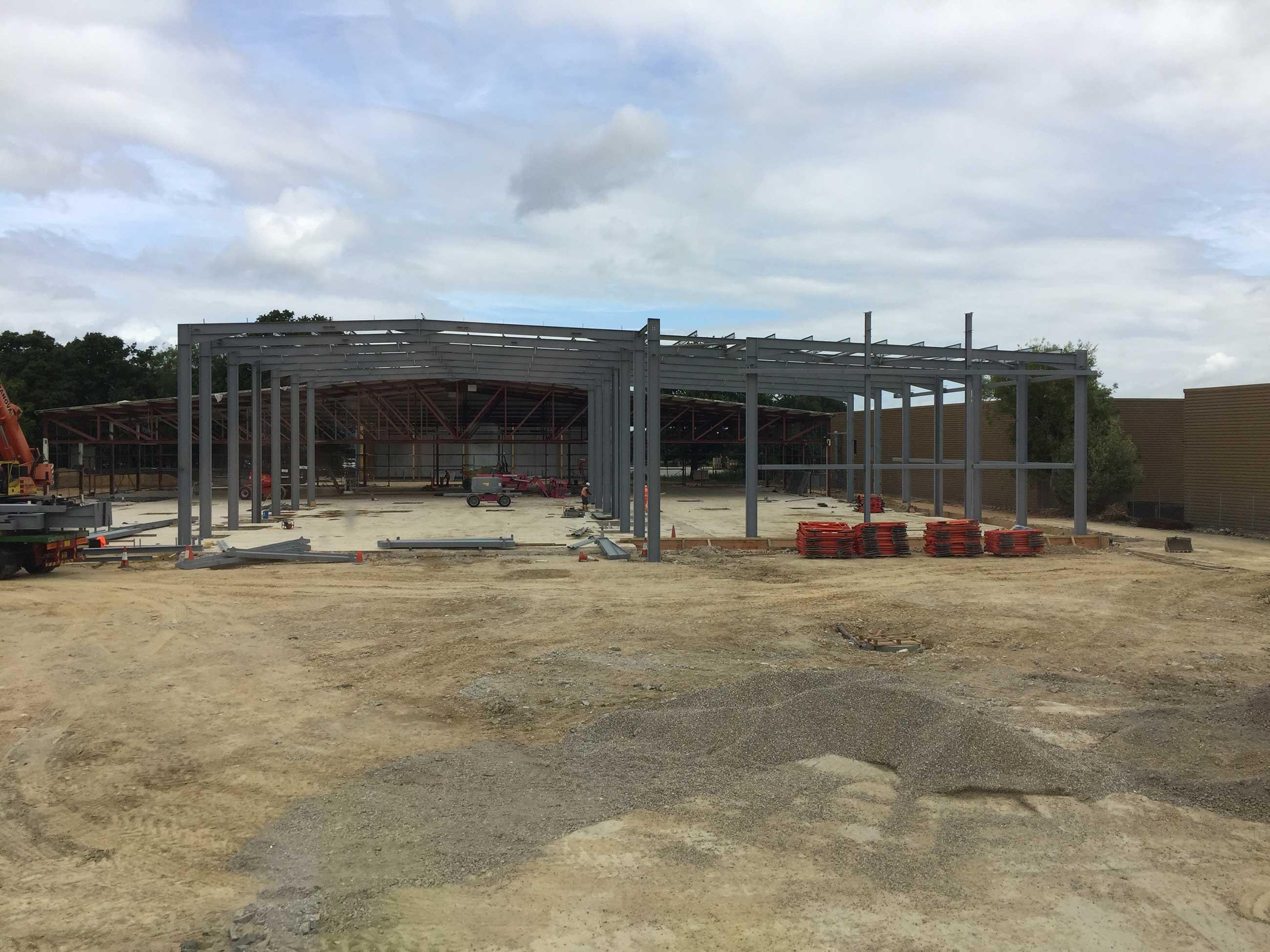 Car Showroom Construction, Crawley