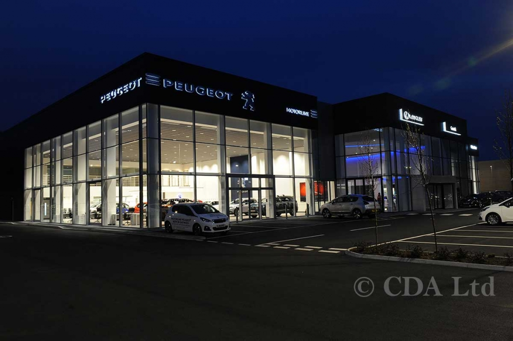 Aluminium Car Showroom With Curtain Walling, Crawley