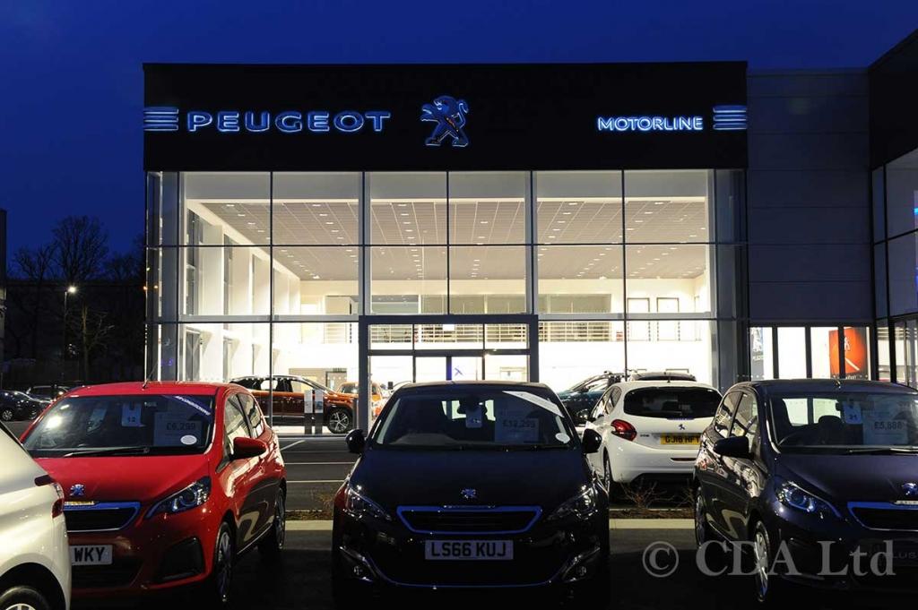 Peugeot Car Showroom Constructions Crawley